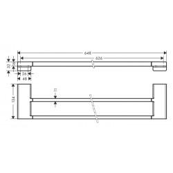 Двойной держатель для банных полотенец Hansgrohe AddStoris 41743700 белый матовый