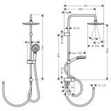 Душевая система Hansgrohe Vernis Blend Showerpipe 200 1jet Reno 26272000 хром