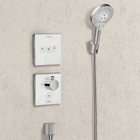 Термостат для душа Hansgrohe ShowerSelect Glass Highfow White 15735400