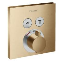 Термостат для душа Hansgrohe ShowerSelect Brushed Bronze 15763140