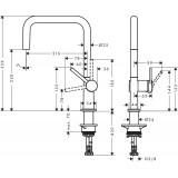 Смеситель для кухонной мойки Hansgrohe Talis M54, хром 72844000