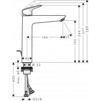 Смеситель для раковины Hansgrohe Logis 71095000