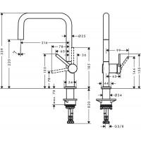 Смеситель Hansgrohe Talis M54 для кухонной мойки, хром 72806000