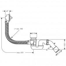 Сифон для ванны Hansgrohe Flexaplus Basic 58140180