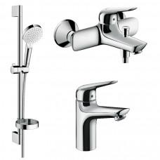 Набор смесителей для ванны 3 в 1 Hansgrohe Novus 1152019