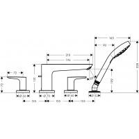 Смеситель для ванны Hansgrohe Talis E на 4 отверстия Matt Black71748670