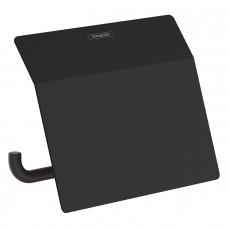 Держатель туалетной бумаги Hansgrohe AddStoris 41753670 с крышкой, черный матовый