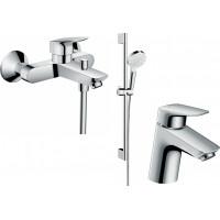 Набор смесителей Hansgrohe EcoSmart для ванны Logis 100 (71078+7140+26534400) 20200009