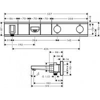Термостат для ванны Hansgrohe RainSelect с 2 потребителями Chrome/White 15359400