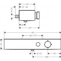 Термостат для душа Hansgrohe ShowerTablet Select, белый матовый 24360700
