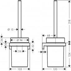 Набор для WC с держателем Hansgrohe AddStoris 41752340 черный матовый хром