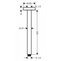 Кронштейн для верхнего душа Hansgrohe 300 мм 27389000