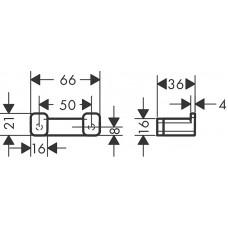 Двойной крючок Hansgrohe AddStoris 41755340 черный матовый/хром