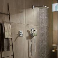 Верхний душ Hansgrohe Raindance E 300 1jet с душевым кронштейном Brushed Black Chrome 26238340