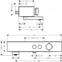 Термостат для ванны Hansgrohe ShowerTablet Select, белый матовый 24340700