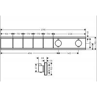 Термостат Hansgrohe RainSelect скрытого монтажа на 4 потребителя Brushed bronze 15382140