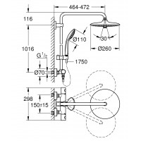Душевая система с термостатом Grohe Euphoria 27615001