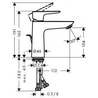 Смеситель для раковины Hansgrohe Talis E 110 с донным клапаном pop-up Polished Gold Optic 71710990
