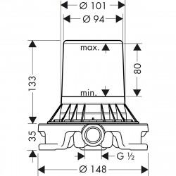 Скрытая часть Hansgrohe для напольных смесителей 10452180