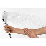 Ручной душ Hansgrohe Crometta Vario Green EcoSmart белый/хром 26336400