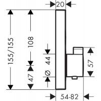 Термостат для душа Hansgrohe ShowerSelect Brushed Black 15763340