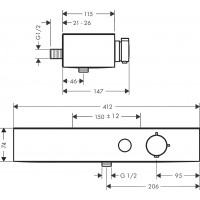 Термостат для душа Hansgrohe ShowerTablet Select, черный матовый 24360670