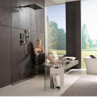 Термостат для душа Hansgrohe ShowerSelect Glass Highfow Black 15735600