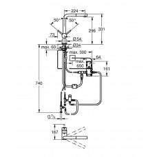 Смеситель кухонный сенсорный для мойки Grohe Minta Touch 31360DC1