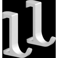 Крючок для полотенец Hansgrohe WallStoris 27929700 на штангу, белый матовый