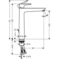 Смеситель для раковины Hansgrohe Talis E 240 Brushed Black Chrome 71716340