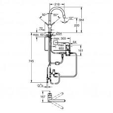 Сенсорный смеситель для мойки Grohe Minta Touch 31358DC1