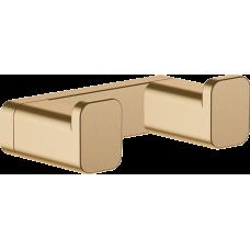 Двойной крючок Hansgrohe AddStoris 41755140 бронза матовый