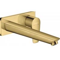 Смеситель для раковины Hansgrohe Talis E настенный Polished Gold Optic 71734990