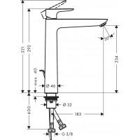 Смеситель для раковины Hansgrohe Talis E 240 Matt White 71716700