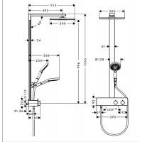 Душевая система с термостатом Hansgrohe Raindance E Showerpipe 350 1jet 27362000