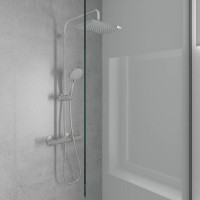 Душевая система Hansgrohe Vernis Shape Showerpipe 230 1jet с термостатом 26286000 хром