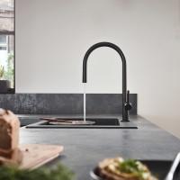 Смеситель Hansgrohe Talis M54 для кухонной мойки с выдвижным душем Sbox Matt Black72803670