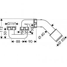 Сифон для ванны Hansgrohe 56373000
