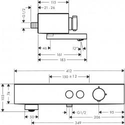 Термостат для ванны Hansgrohe ShowerTablet Select, хром 24340000