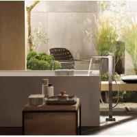 Смеситель для ванны напольный Hansgrohe Metropol Brushed Black Chrome 32532340