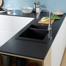 Кухонная мойка Hansgrohe S510-F635 770х510 на две чаши 180/450 Graphiteblack 43315170