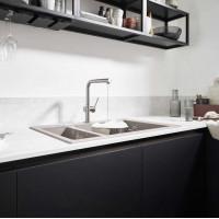 Смеситель Hansgrohe Talis M54 для кухонной мойки с выдвижным душем Stainless Steel72809800