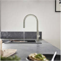 Смеситель Hansgrohe Talis M54 для кухонной мойки с выдвижным душем Stainless Steel72801800