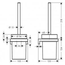 Набор для WC с держателем Hansgrohe AddStoris 41752000 хром