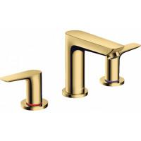 Смеситель для раковины на 3 отверстия Hansgrohe Talis E Polished Gold Optic 71733990