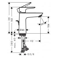 Смеситель для раковины Hansgrohe Talis E 110 с донным клапаном pop-up Matt White 71710700