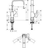 Смеситель для раковины Hansgrohe Metropol Brushed Bronze 32511140