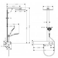Душевая система Hansgrohe Raindance E Showerpipe 300 1jet с душевой штангой 27364000