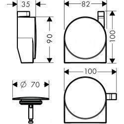 Внешняя часть сифона для ванны Hansgrohe Exafill S Matt Black 58117670