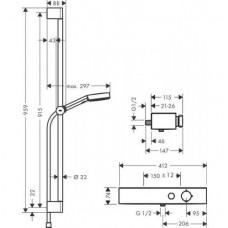 Душевой набор Hansgrohe Pulsify Select 105 3jet Relaxation 24270000 хром